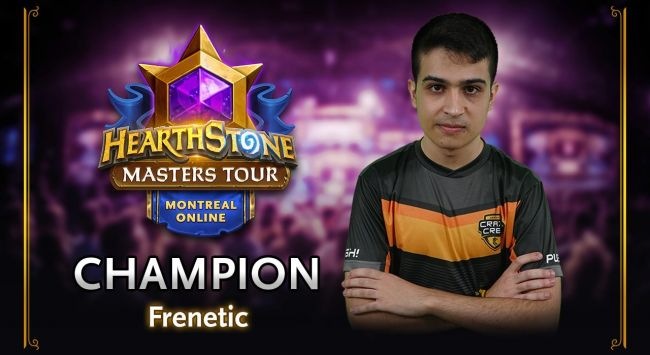 Frenetic is crowned champion of Hearthstone Masters Tour Online: Montreal